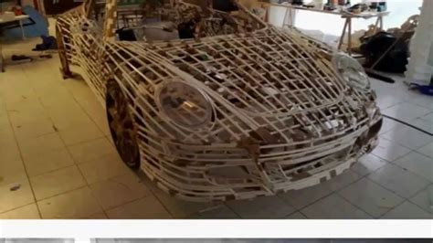 porsche life size life sized porsche made out of paper youtube