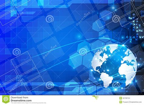 world information abstract blue world and technology background stock images