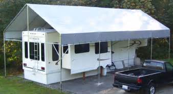 Motorhome Awning Sides Diy Portable Rv Boat Portable Carports Rv Boat Shelters
