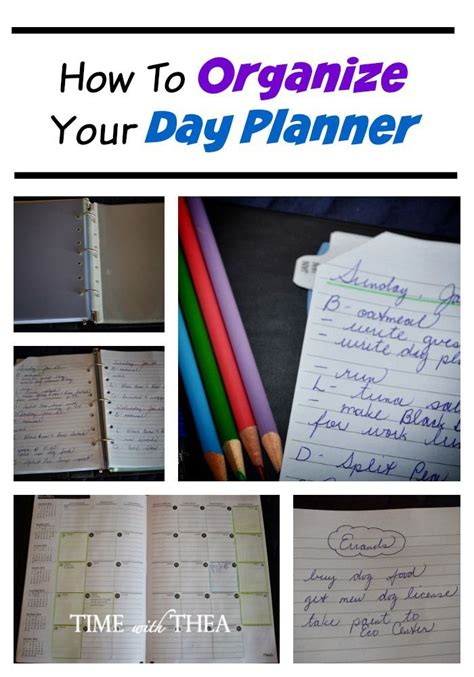 Organize Day | how to organize your day planner day planners create