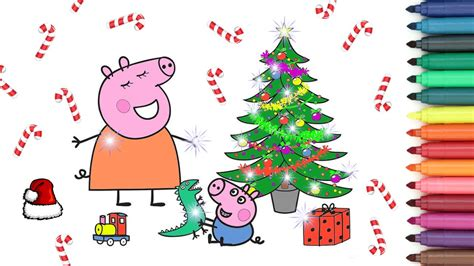 new year 2017 pig mummy pig george pig happy new year 2017 coloring page