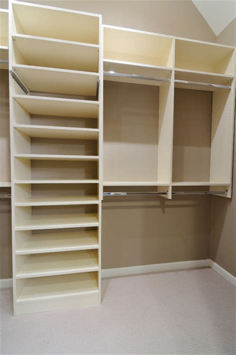 melamine closet traditional closet atlanta by cr