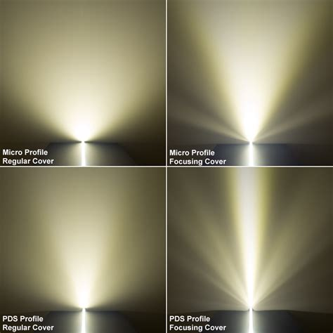 Light Fixture Lenses Klus 17111 Light Focusing Led Profile Lens Standard Clear Led Profile Housings Led