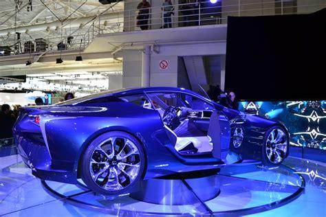 lexus lf lc blue 2012 aims lexus lf lc blue hybrid concept debuts in