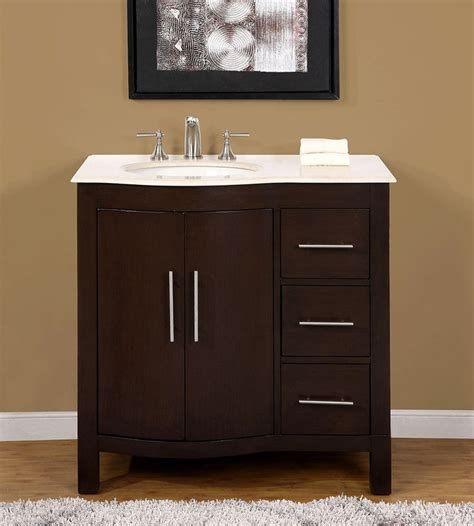 left side sink bathroom vanity 36 quot 0912cm marble stone top single bathroom vanity