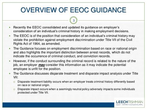 Eeoc Arrest Records New Eeoc Guidelines What Employers Need To About The Use Of Cr