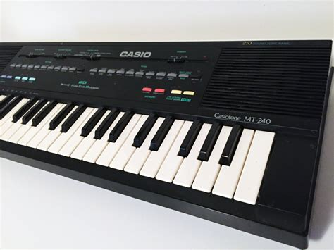 Keyboard Casio Synthesizer vintage casio mt 240 keyboard midi synthesizer circuit bending