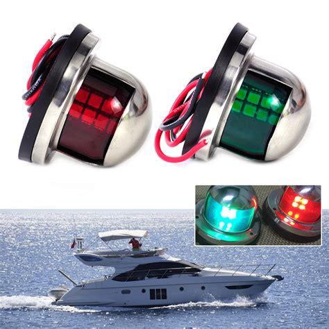 kayak led navigation lights 2pcs 12v led bow navigation light stainless marine boat