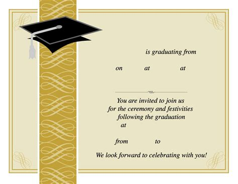 graduation templates graduation invitation templates www imgkid the