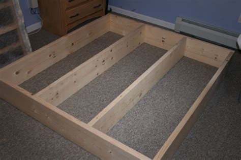 How To Build A Queen Size Platform Bed Frame With Storage How To Build A Bed Frame