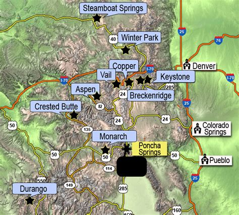 colorado ski resorts map colorado ski resort map my
