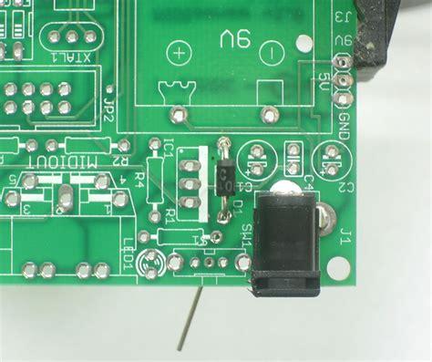 diode direction pcb midisense make adio kit
