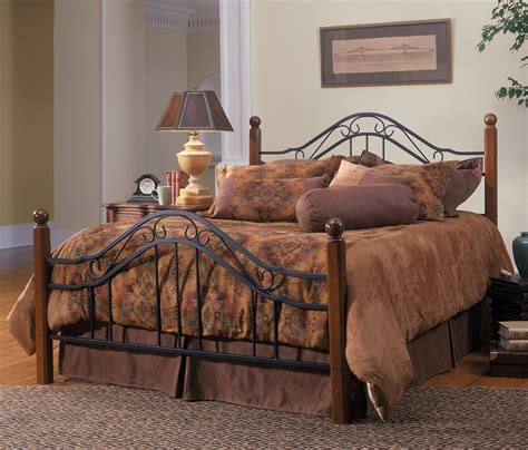 wood and metal headboard queen size bed frame rustic bedroom furniture antique