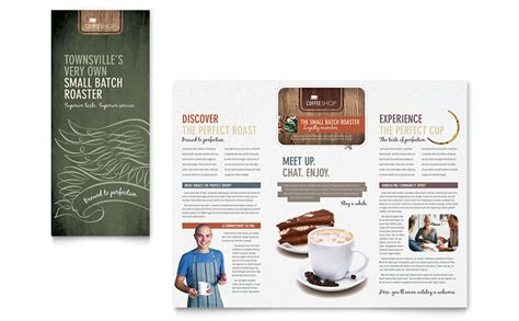 coffee shop brochure template coffee shop brochure template word publisher