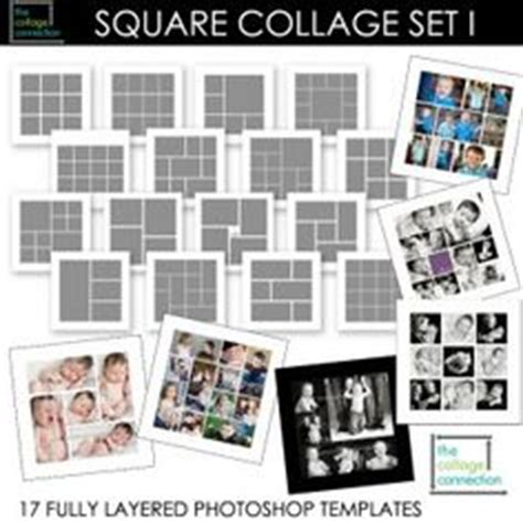 Photo Storyboard Template 20x20 Inches Psd Digital Scrapbooking Photographer Frames Instant Yearbook Collage Template