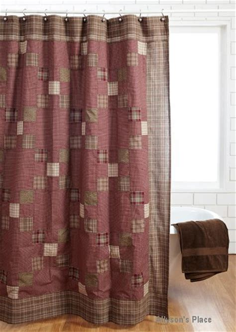 Plaid Shower Curtain Primitive by 1000 Images About Primitive Shower Curtains On Home Plaid And Black