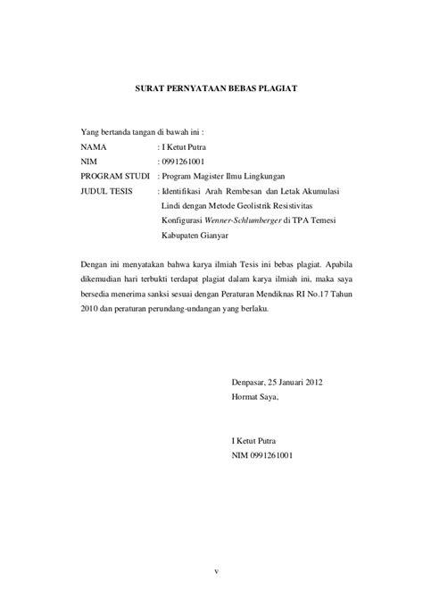 pernyataan tesis adalah unud 441 399343039 identifikasi arah rembesan dan letak