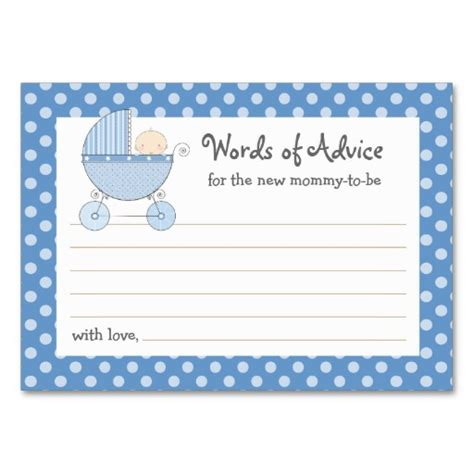 advice for the cards template 8 best images of printable to be advice baby