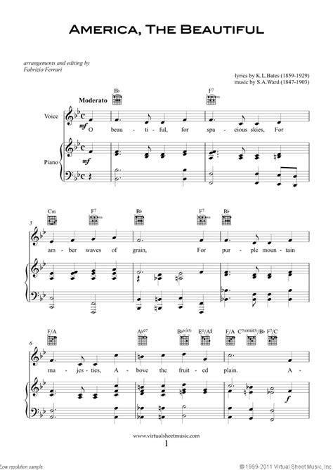 song free patriotic sheet and songs for piano voice or other