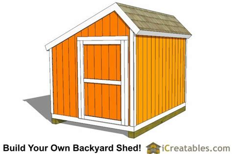 How To Build Your Own Shed Cheap by 8x10 Saltbox Shed Plans Storage Shed Icreatables
