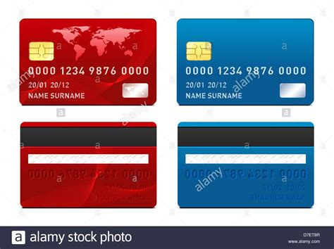credit card template front and back side stock photo