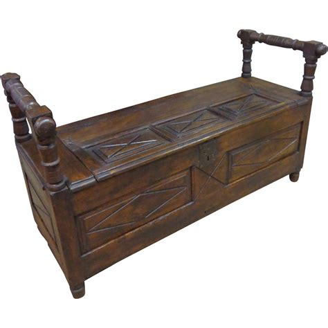 bench trunking 18th century french antique trunk bench from rubylane sold