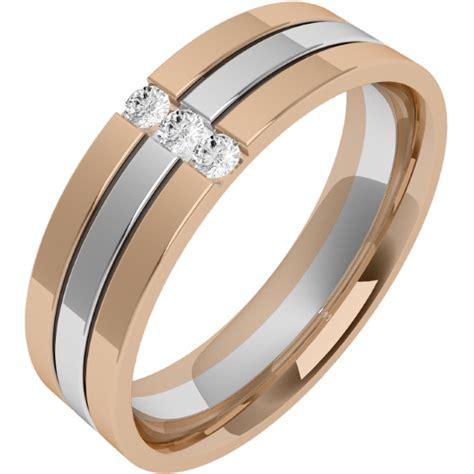 Eheringe Gold Mit 3 Diamanten by Ehering Mit Diamanten Fuer Mann In 18kt Weissgold Und
