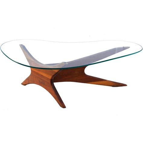 mid century modern glass coffee table adrian pearsall biomorphic kidney shaped glass coffee