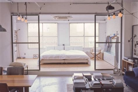 Minimalist Tokyo Loft With Industrial Touches Digsdigs | minimalist tokyo loft with industrial touches digsdigs