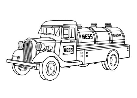 hess truck coloring page steven noble illustrations hess truck 02
