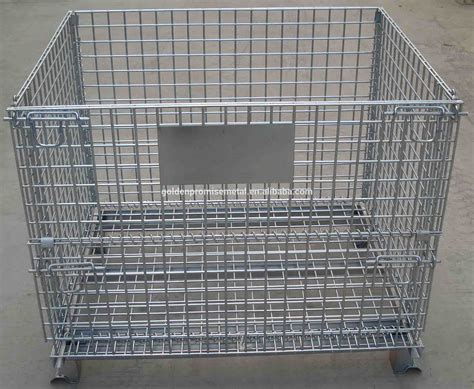 metal cage stacking metal wire mesh pallet cage buy pallet cage wire cages collapsible storage