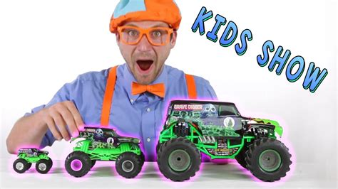 grave digger monster truck toys for kids monster truck toys for kids learn shapes of the trucks