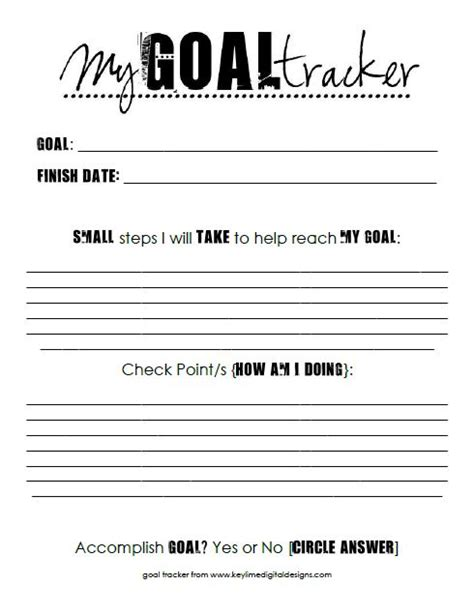 printable goal journal re post thoughts on goals freebie free printable