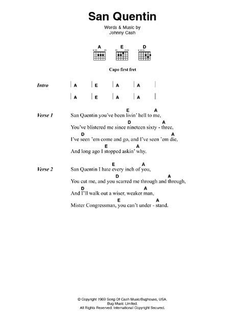 guitar tutorial johnny cash san quentin by johnny cash guitar chords lyrics guitar