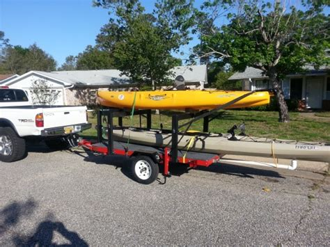 how to build a kayak boat kayak trailer build pensacola fishing forum