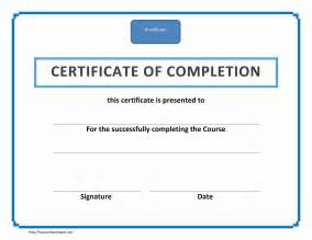 Template For Certificate Of Completion by Certificate Of Completion Freewordtemplates Net