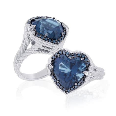 QVC Jewelry: Judith Ripka Sterling Blue Topaz and Diamond Ring   Newsdesk