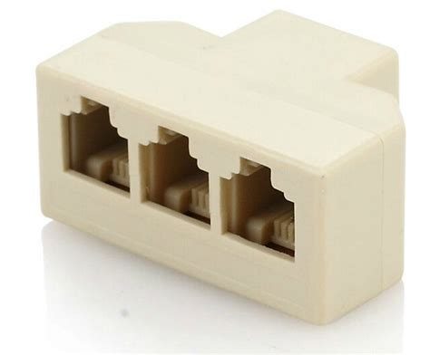 Splitter Rj 11 Adapter 1 3 Aktif rj11 rj 11 1 to 3 telephone phone cable line splitter connector terminal in computer