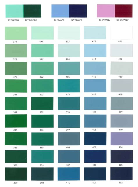 paint colors card industrial paint color cards
