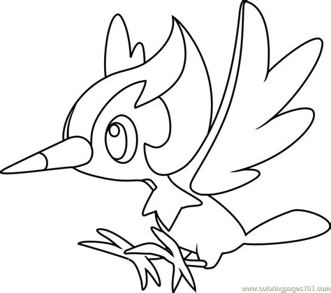 coloring pages pokemon sun and moon pikipek pokemon sun and moon coloring page free pok 233 mon