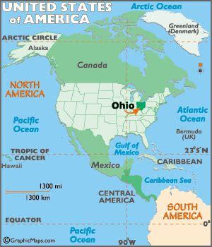 ohio map / geography of ohio/ map of ohio worldatlas.com
