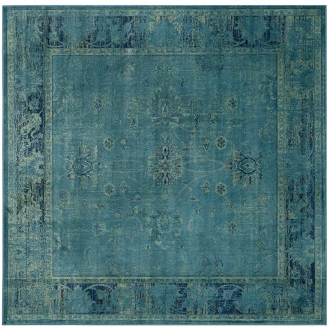 safavieh vintage turquoise multi 5 safavieh vintage turquoise multi 6 ft x 6 ft square area rug vtg117 2220 6sq the home depot