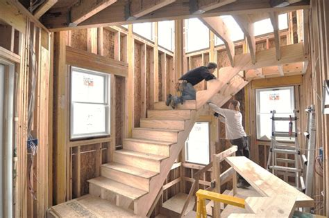 standing stair construction