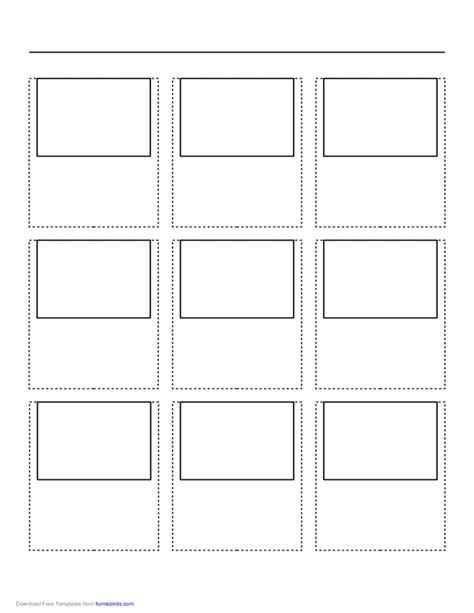 printable paper net storyboard storyboard with 3x3 grid of 4 3 full screen screens on