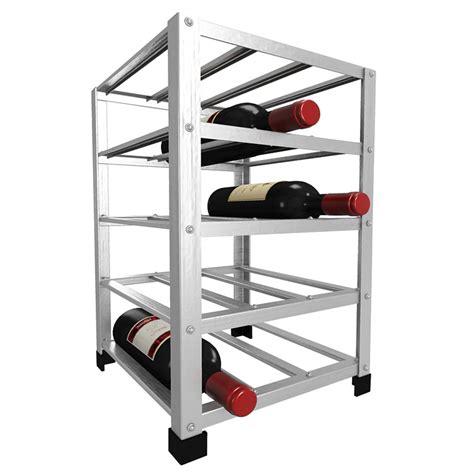Metal Wine Racks by Big Metal Wine Rack Self Assembly 15 Bottle Wine Racks