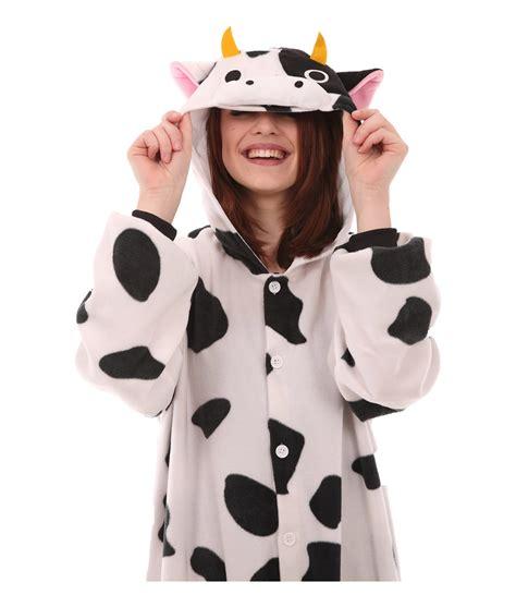 Piyama Dewasa Cow Skin Black Pajamas cow animal onesie it s amooosing funzee