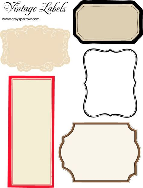 Vintage Label Border Projects To Try Pinterest Beautiful Vintage Labels And Printable Free Templates For Labels And Tags