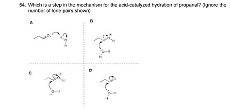 hydration mechanism solved which is a step in the mechanism for the acid cata