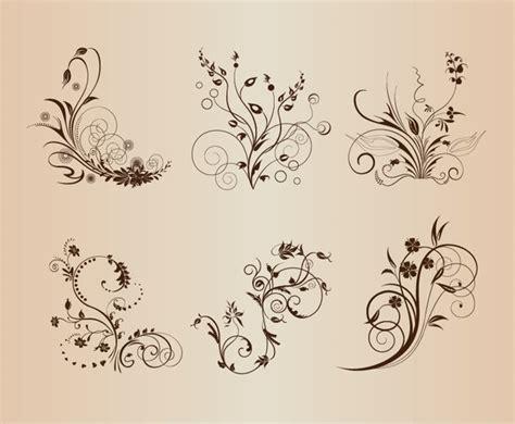 vintage floral design elements vector free download vintage floral pattern elements vector illustration free