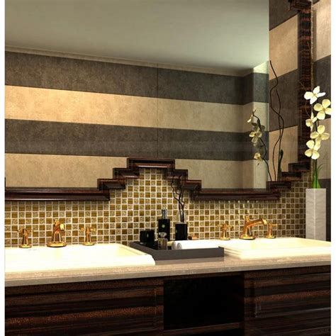 gold porcelain tile square 1 quot glaze ceramic mosaic plating